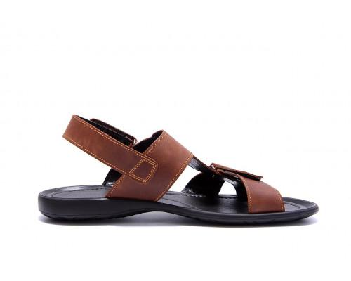Мужские кожаные сандалии CARDIO Brown