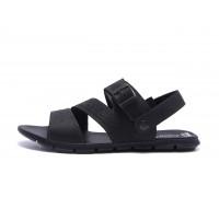 Мужские кожаные сандалии AND Denim Black