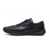 Мужские кожаные кроссовки Lacoste Lerond Л-5 черные кожа