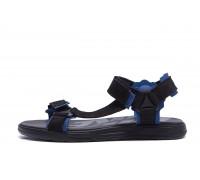 Мужские кожаные сандалии Nike Track Black blue