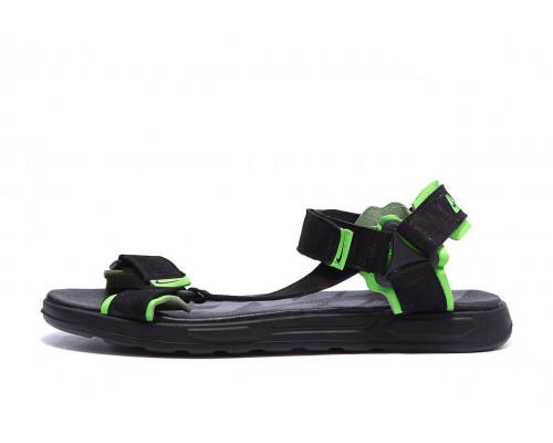Мужские кожаные сандалии Nike Track Black green