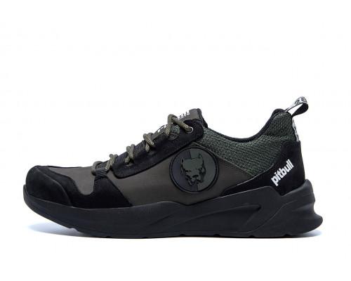 Мужские кожаные кроссовки Pitbull Olive