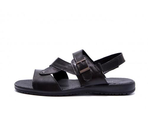 Мужские кожаные сандалии VanKristi Black VK 1006ч