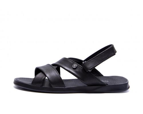 Мужские кожаные сандалии VanKristi Black VK 1021ч
