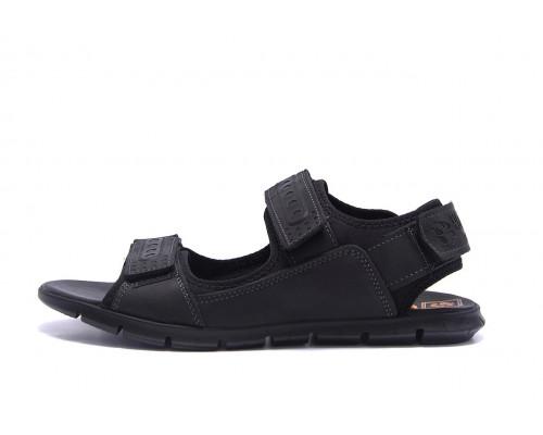 Мужские кожаные сандалии AND Wolfstep Black