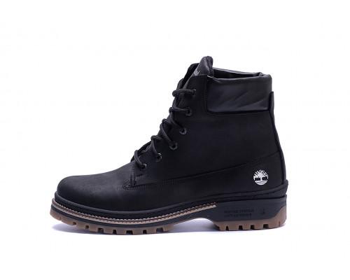 Мужские зимние кожаные ботинки Timberlend Crazy Shoes Black