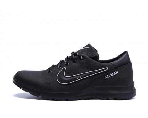Мужские кожаные кроссовки Nike Street Style N1ч
