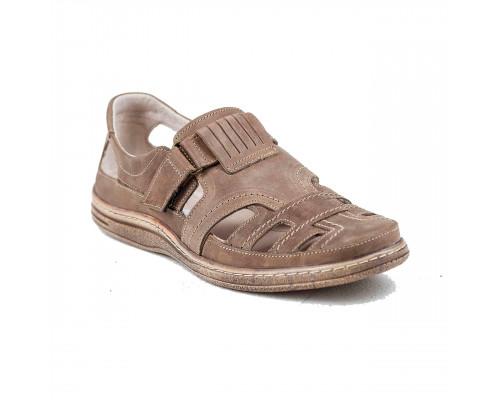 Мужские кожаные летние туфли Bastion 030 ол