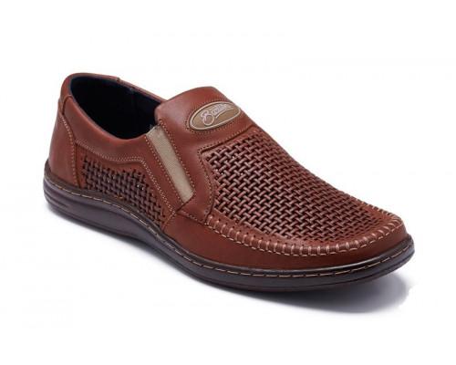 Мужские кожаные летние туфли 036пр