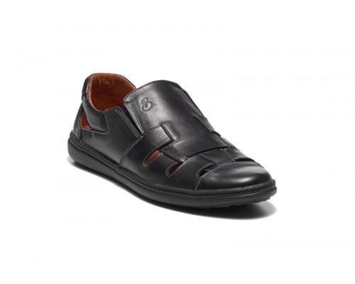 Мужские кожаные летние туфли 19031ч
