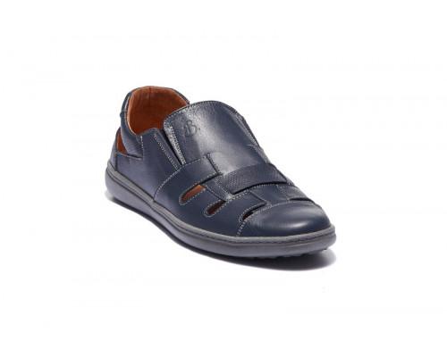 Мужские кожаные летние туфли 19031с