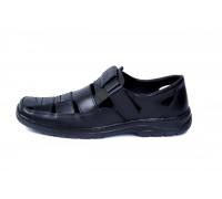 Мужские кожаные летние туфли Matador Black 51ч