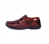 Мужские кожаные летние туфли Matador Brown 51к