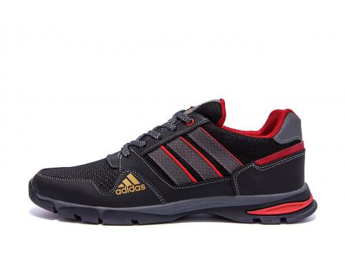 Мужские летние кроссовки сетка Adidas Tech Flex Black