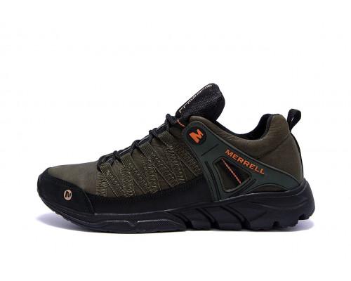 Мужские кожаные кроссовки Merrell Tracking М4 хаки