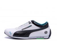 Мужские кожаные кроссовки Puma Mersedes Amg Petronas P7 белые