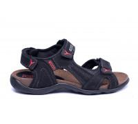 Мужские кожаные сандалии Ecco Active Drive black