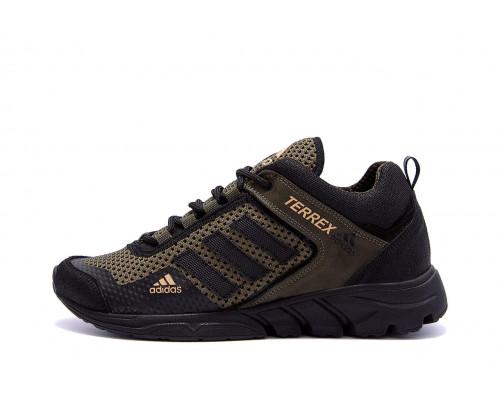 Мужские летние кроссовки сетка Adidas Terrex haki