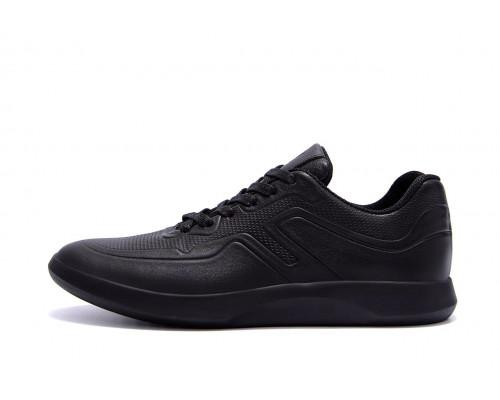 Мужские кожаные кроссовки YAVGOR Black yv 118