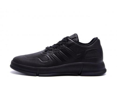 Мужские кожаные кроссовки YAVGOR Black yv 128
