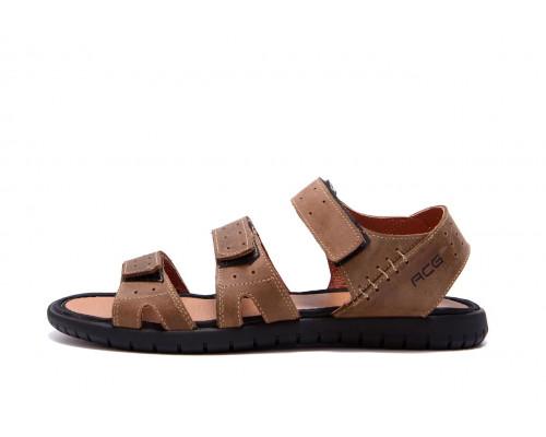 Мужские кожаные сандалии Nike ACG Olive