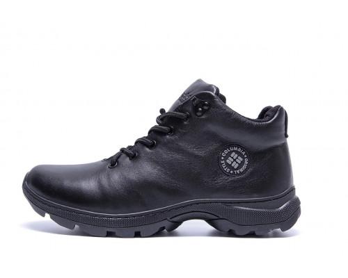 Мужские зимние кожаные ботинки Columbia Black leather