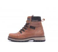 Мужские зимние кожаные ботинки ZG Brown Military Style