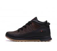 Мужские зимние кожаные кроссовки Fila Brown Classic