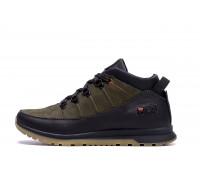 Мужские зимние кожаные кроссовки Fila Olive Classic