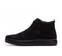 Мужские зимние кожаные ботинки Timberland Black 117 нубук