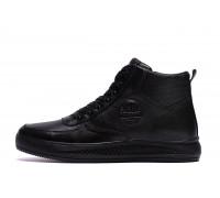 Мужские зимние кожаные ботинки Timberland Black 117
