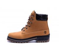 Мужские зимние кожаные ботинки Timberlend Crazy Shoes Limone New