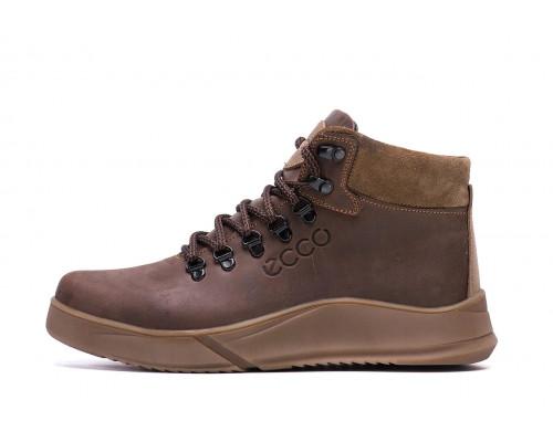 Мужские зимние кожаные ботинки Yurgen brown Style