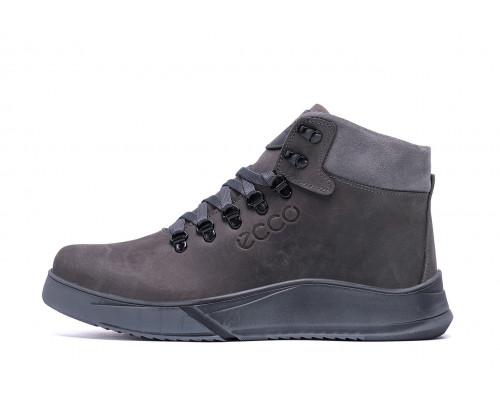 Мужские зимние кожаные ботинки Yurgen grey Style