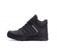 Мужские зимние кожаные ботинки Adidas Black leather