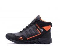 Мужские зимние кожаные ботинки Adidas TERREX Black Orang