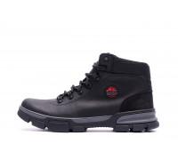 Мужские зимние кожаные кроссовки icefield Black Classic