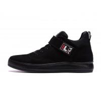 Мужские зимние кожаные ботинки FILA Black нубук