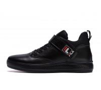 Мужские зимние кожаные ботинки FILA Black