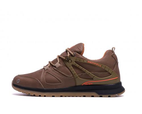 Мужские зимние кожаные кроссовки MERRELL vlbram Olive