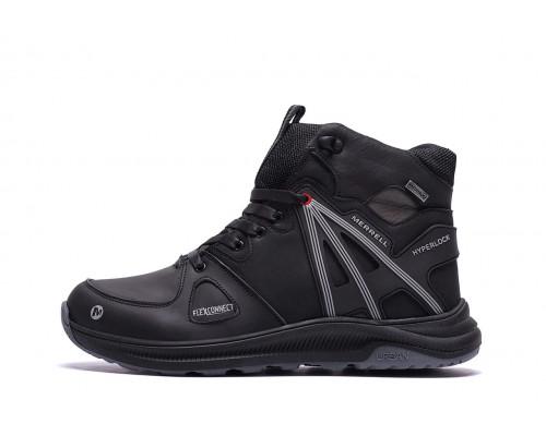 Мужские зимние кожаные ботинки MERRELL SLAB Black