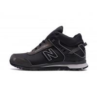 Мужские зимние кожаные кроссовки NB Clasic Black