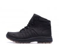 Мужские зимние кожаные ботинки Timberland Black leather