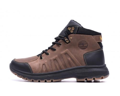 Мужские зимние кожаные ботинки Timberland Brown leather