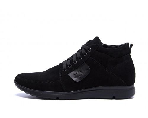 Мужские зимние кожаные ботинки VanKristi VK 940 замш