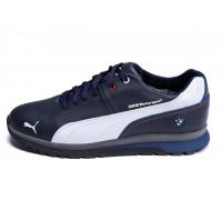 Мужские зимние кожаные кроссовки Puma BMW MotorSport Blue Pearl