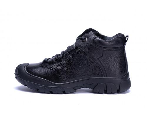 Мужские зимние кожаные ботинки Yalasou Sport System Black