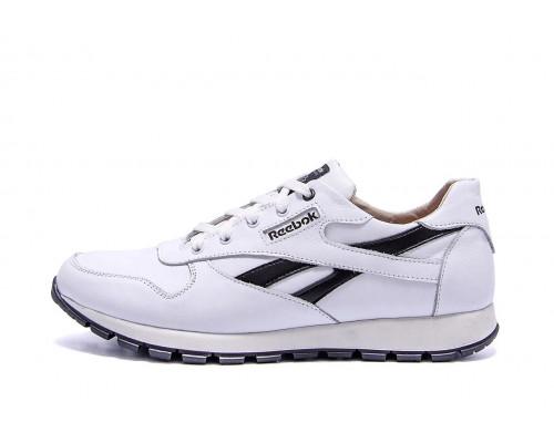 Мужские кожаные кроссовки Reebok Classic White 210 б\ч