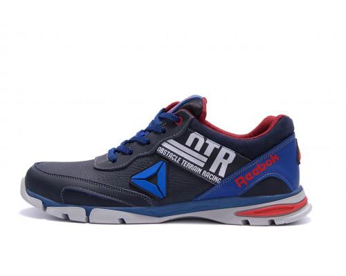 Мужские кожаные кроссовки Reebok Tech Flex Blue