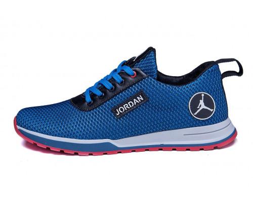 Мужские летние кроссовки сетка Jordan blue